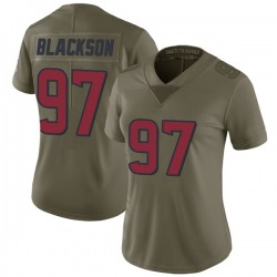 Angelo Blackson Houston Texans Women's Limited Salute to Service Nike Jersey - Green