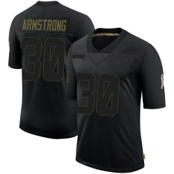 Cornell Armstrong Houston Texans Men's Limited 2020 Salute To Service Nike Jersey - Black
