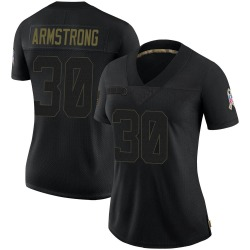 Cornell Armstrong Houston Texans Women's Limited 2020 Salute To Service Nike Jersey - Black