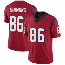 Tyler Simmons Houston Texans Youth Limited Alternate Vapor Untouchable Nike Jersey - Red
